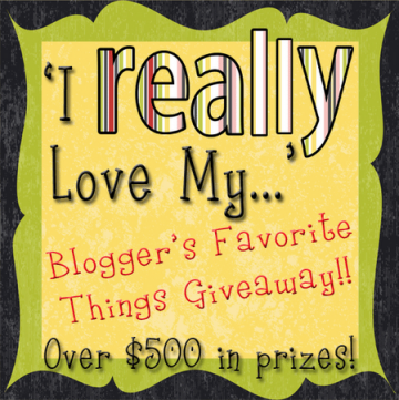 I really love my...Bloggers Favorite Things Giveaway by whatscookingwithruthie.com