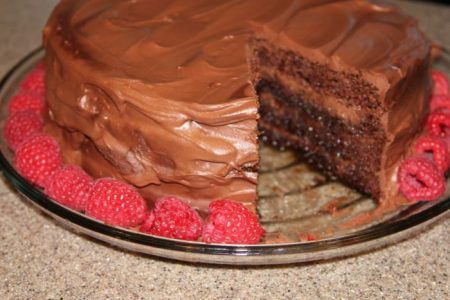 Disney's Triple Chocolate Mousse Cake by whatscookingwithruthie.com