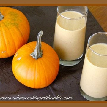 Pumpkin Smoothie by whatscookingwithruthie.com