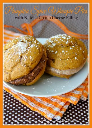 Pumpkin Spice Whoopie Pies by whatscookingwithruthie.com