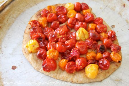 Tomato Basil Naan Bread Pizza by whatscookingwithruthie.com