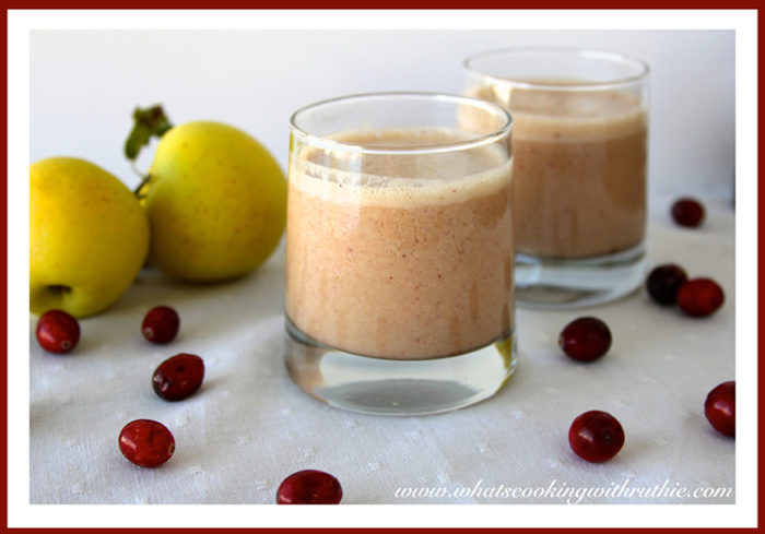 Cranberry Apple Smoothie by whatscookingwithruthie.com