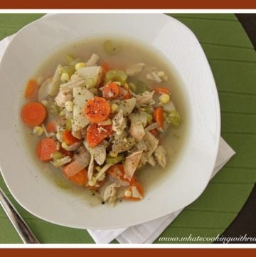 Leftover Turkey Soup by whatscookingwithruthie.com