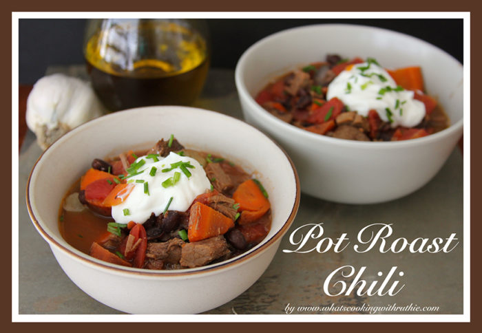 Pot Roast Chili by whatscookingwithruthie.com