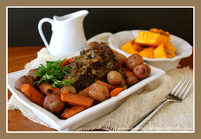 Slow Cooker Pot Roast by whatscookingwithruthie.com