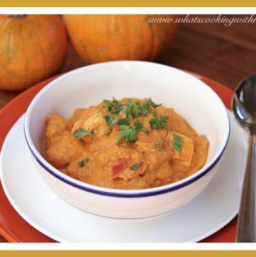 Thai Chicken Pumpkin Stew by whatscookingwithruthie.com