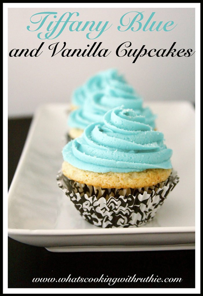 Tiffany Blue and Vanilla Cupcakes - Cooking With Ruthie