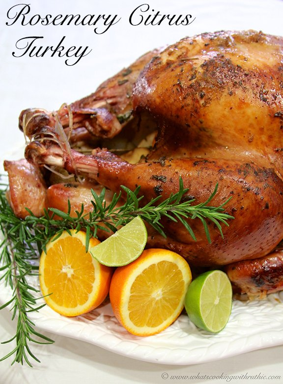 Rosemary Citrus Turkey Recipe is long-time family favorite and we hope you'll love it at your holiday festivities this year too! by cookingwithruthie.com