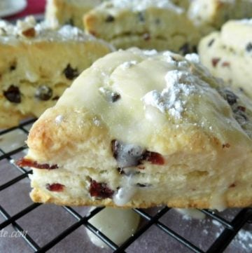 Cranberry-Chocolate-Scones by bakerette at www.whatscookingwithruthie.com