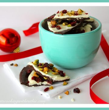 Cranberry Pistachio Bark by whatscookingwithruthie.com