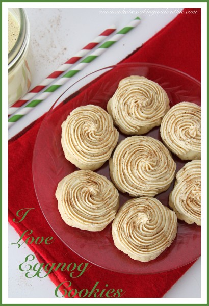 I Love Eggnog Cookies by whatscookingwithruthie.com