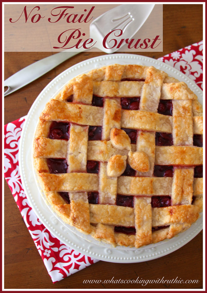 No Fail Pie Crust by whatscookingwithruthie.com
