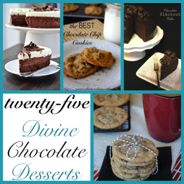 25 Divine Chocolate Desserts by whatscookingwithruthie.com