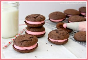 Chocolate Valentine Whoopie Pie by whatscookingwithruthie.com