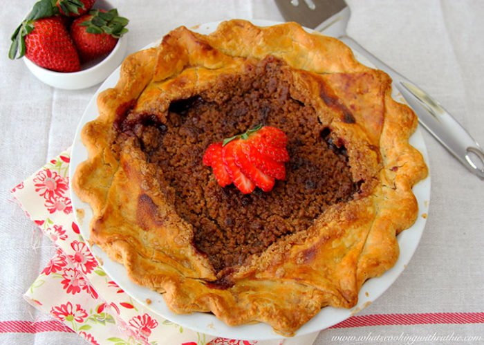 Disney Flo V8 Strawberry Rhubarb Pie by whatscookingwithruthie.com