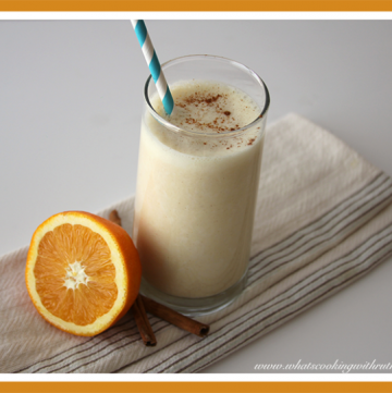 Orange-Cinnamon Lassi by whatscookingwithruthie.com