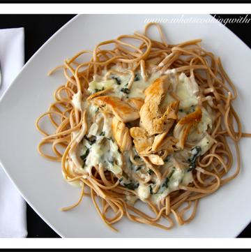 Spinach & Artichoke Alfredo Chicken