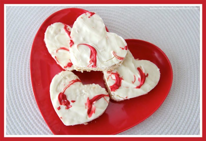 Sweet Heart Rice Krispie Treats by whatscookingwithruthie.com