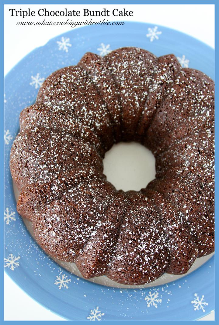 Triple Chocolate Bundt Cake From Cake Mix