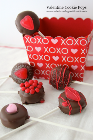 Valentine Cookie Pops by whatscookingwithruthie.com