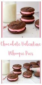Chocolate Valentine Whoopie Pies by whatscookingwithruthie.com