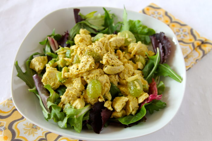 Curry Tropical Chicken Salad is a wonderful salad that my friend ...