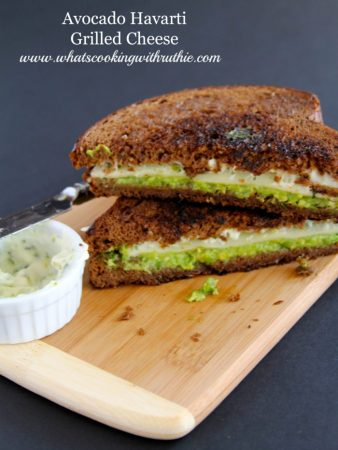 Avocado Havarti Grilled Cheese by whatscookingwithruthie.com