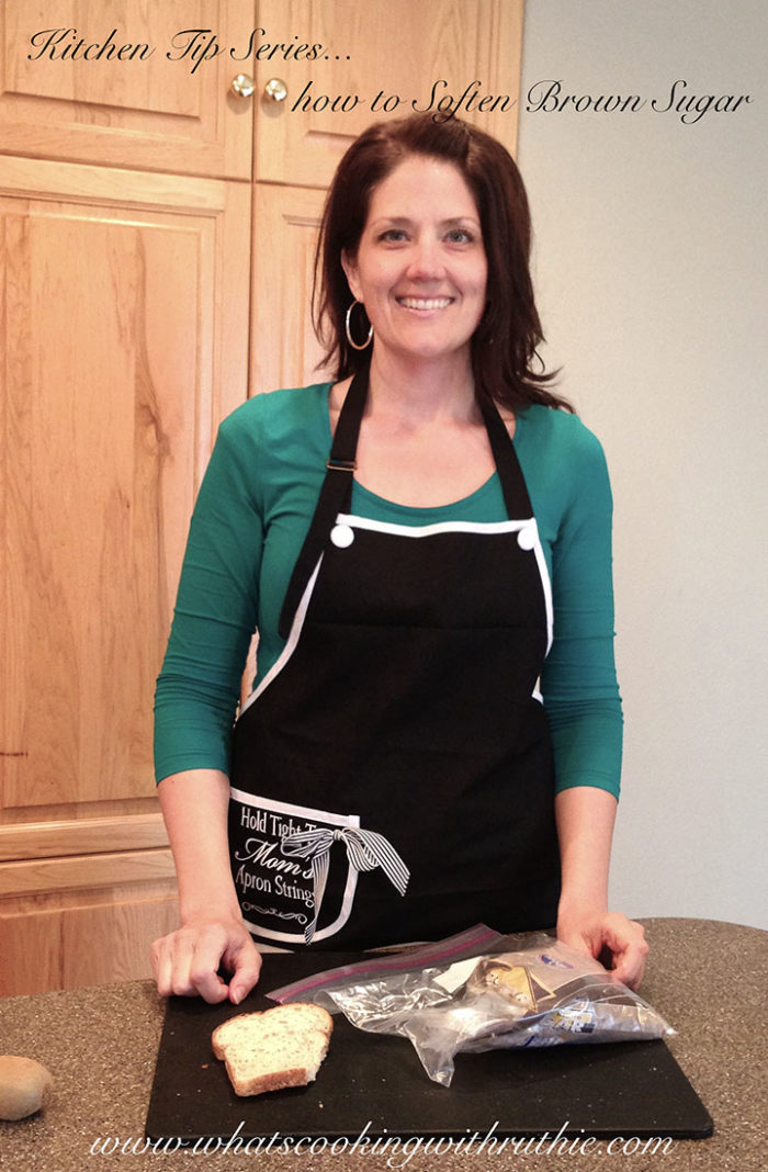 Kitchen Tip Series How to Soften Brown Sugar by www.whatscookingwithruthie.com