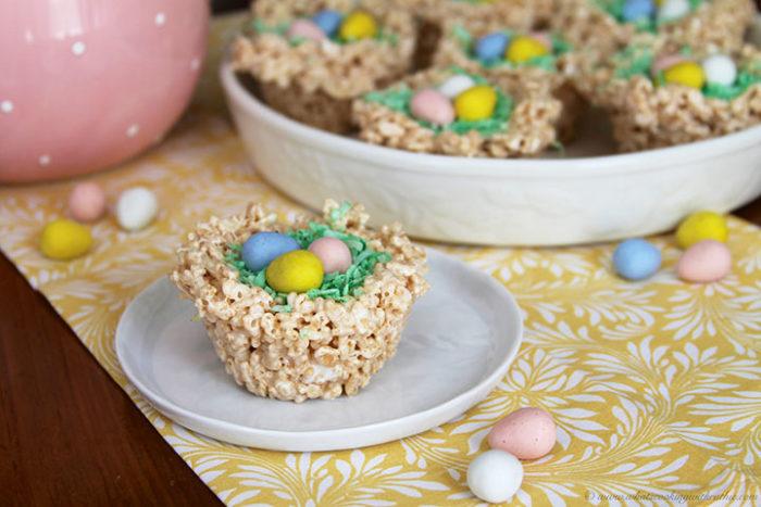 Spring Rice Krispie Nests1
