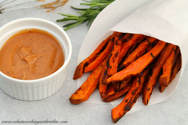 Rosemary Sweet Potato Fries by www.whatscookingwithruthie.com