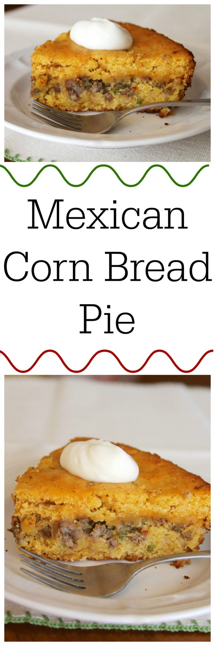 Our Mexican Cornbread Pie Recipe is a delicious twist on the classic shephard's pie using jiffy cornbread and it's a one-dish dinner! by cookingwithruthie.com