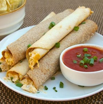 Baked Chicken Taquitos by www.whatscookingwithruthie.com