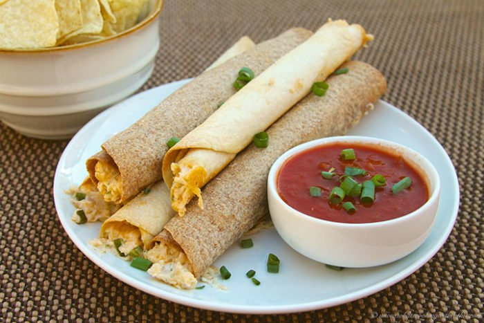 ... Taquito! So, I was super excited to find this Baked Chicken Taquitos