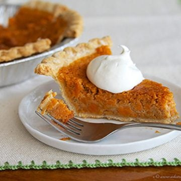 Mindy's Sweet Potato Pie by www.whatscookingwithruthie.com