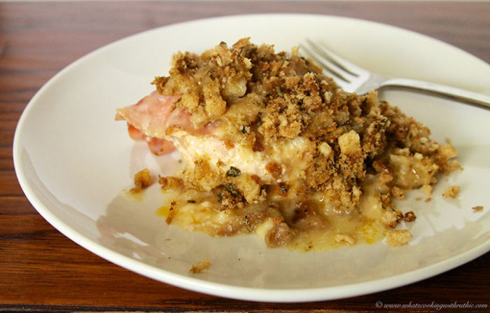Slow Cooker Chicken Cordon Bleu by www.whatscookingwithruthie.com