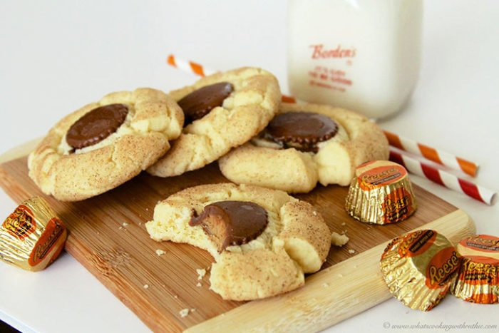 Snickerdoodle Reese's Cup Cookies by www.whatscookingwithruthie.com