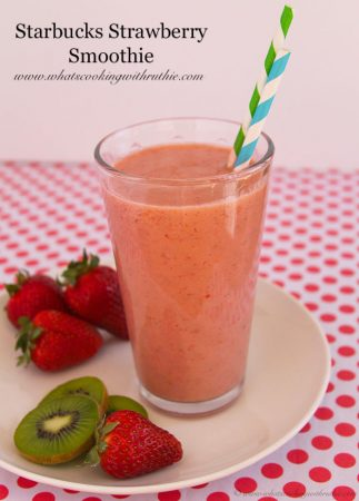 Starbucks Strawberry Smoothie by www.whatscookingwithruthie.com