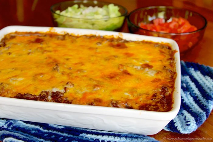 Taco Casserole by www.whatscookingwithruthie.com