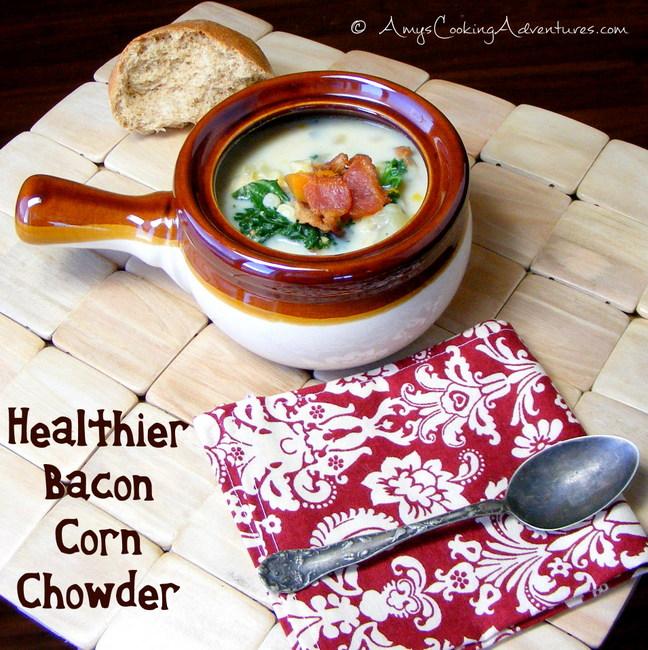 healthier bacon corn chowder#17