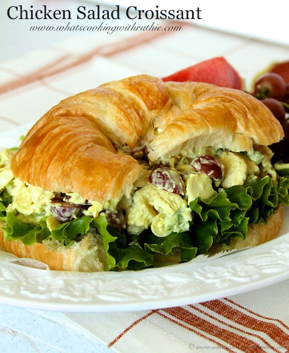 Chicken Salad Croissant by www.whatscookingwithruthie.com