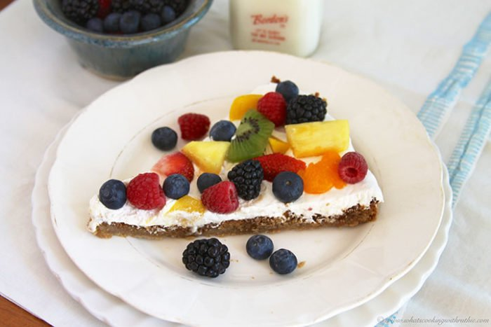 Fruit Cookie Pizza by www.whatscookingwithruthie.com
