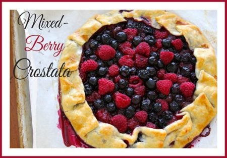Mixed Berry Crostata by www.whatscookingwithruthie.com