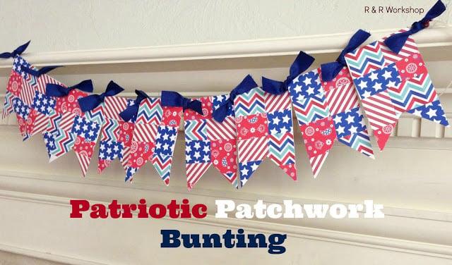 Patriotic Patchwork Bunting#24