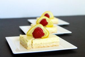 Skinny Lemon Cheesecake Bars by www.whatscookingwithruthie.com