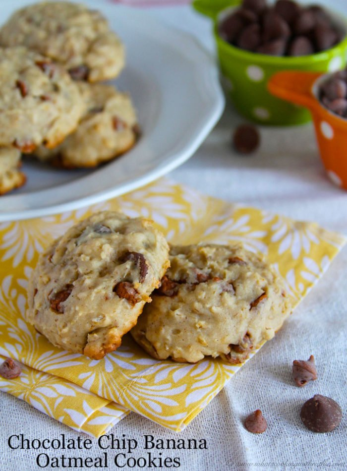 Chocolate Chip Banana Cookies*