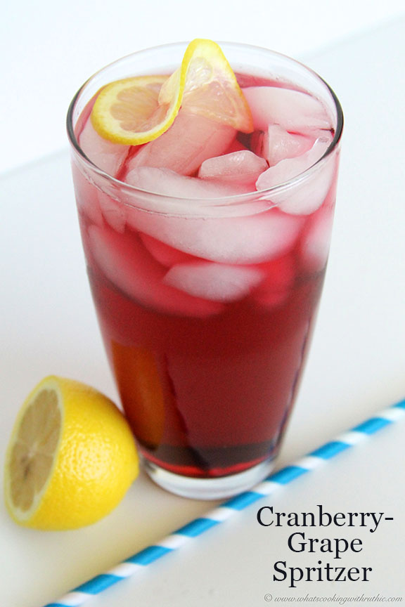 Cranberry Grape Spritzer by www.whatscookingwithruthie.com