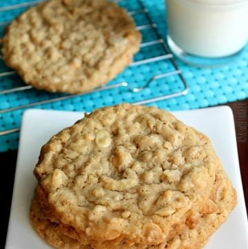 Crisp Polynesian Butterscotch Cookies by asweetbaker on www.whatscookingwithruthie.com