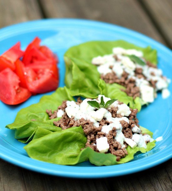 Greek Lettuce Wraps on www.whatscookingwithruthie.com