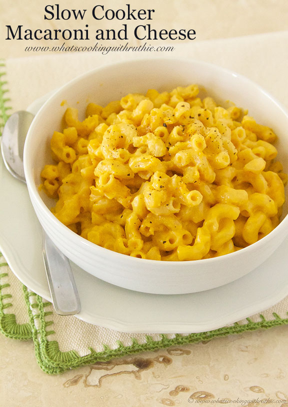 Our Slow Cooker Macaroni and Cheese was ready to eat just as Jake and ...