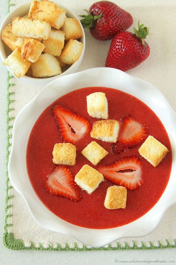 Strawberry-Soup-with-Angel-Food-Cake-Croutons by www.whatscookingwithruthie.com